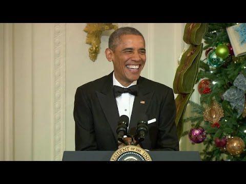 Watch Obama crack himself up - YouTube