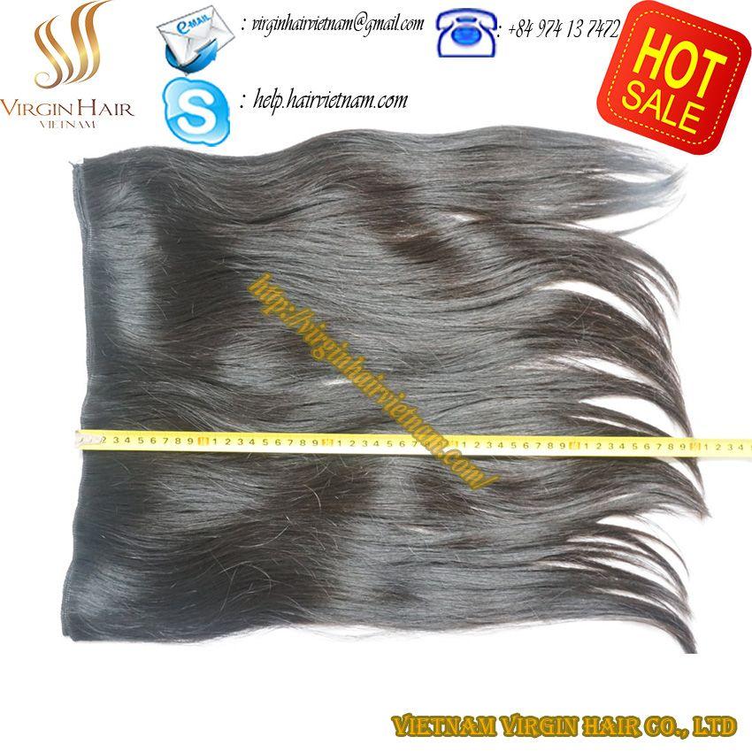Single Drawn Machine Weft. 100% Virgin Human Hair. Natural Black, Natural Brown. No Chemical. Natural Wavy Hair lasts 3 years