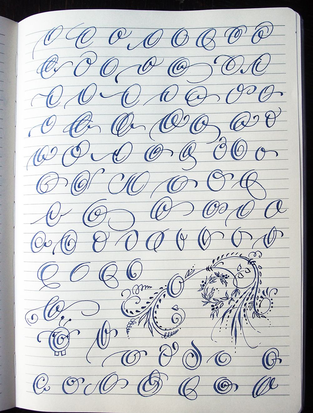 Majuscule O Variants By Polish Calligrapher Barbara Galinska On