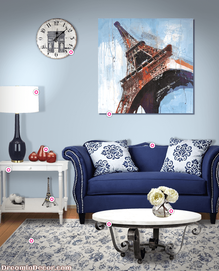 Paris Themed Living Room Decorating Brown Sofa How To Create A With An Authentic Parisian Charm