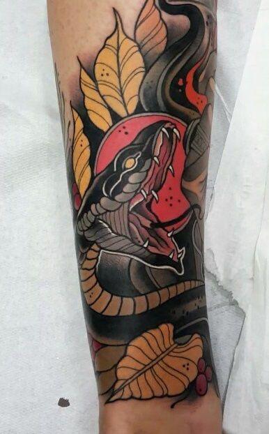 Toni Donaire Tatuagem De Cobra Desenho Tradicional De