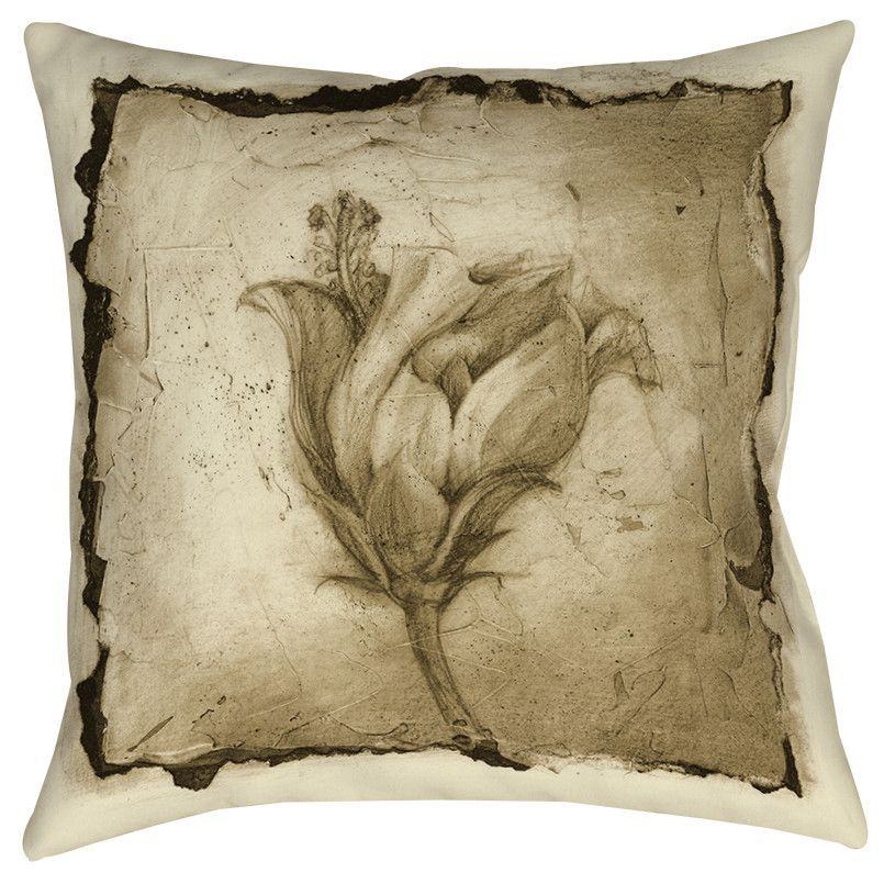 Floral Impression 8 Printed Throw Pillow