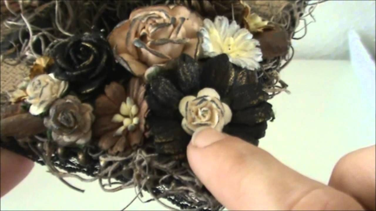 Wild Orchid Crafts DT Project~A Fall Candle Holder