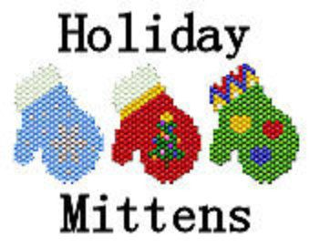 Delica Seed Bead Pattern Brick Stitch Pattern Holiday Christmas