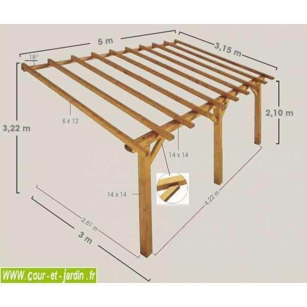 Auvent Terrasse Sherwood Carport Bois De 5mx3 Pergola Carport Pergola Wooden Carports