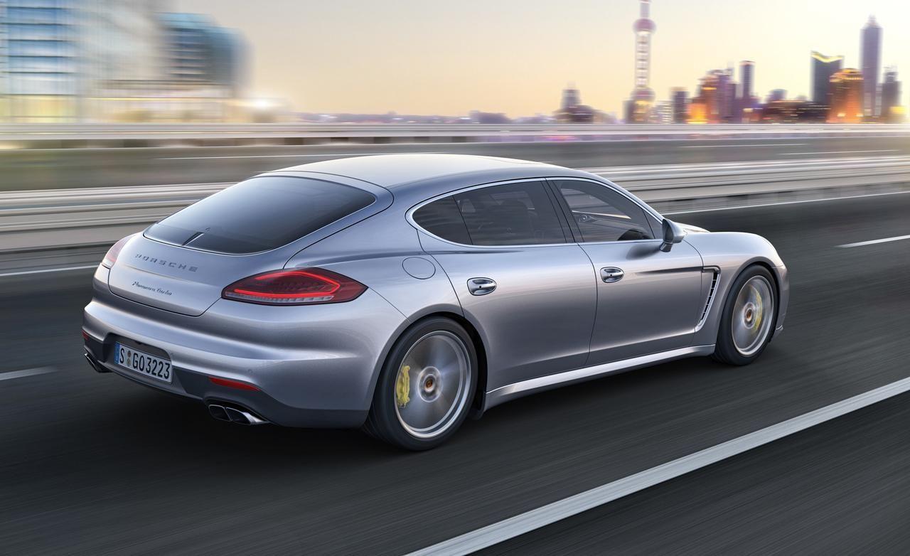 2014 Porsche Panamera Turbo S Executive Speed Rear Widescreen Wallpaper