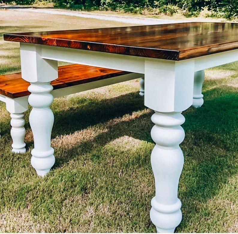 Knotty Pine Curvy Chunky Farmhouse Dining Table Legs 5 Etsy In 2020 Farmhouse Table Legs Dining Table Legs Pine Dining Table