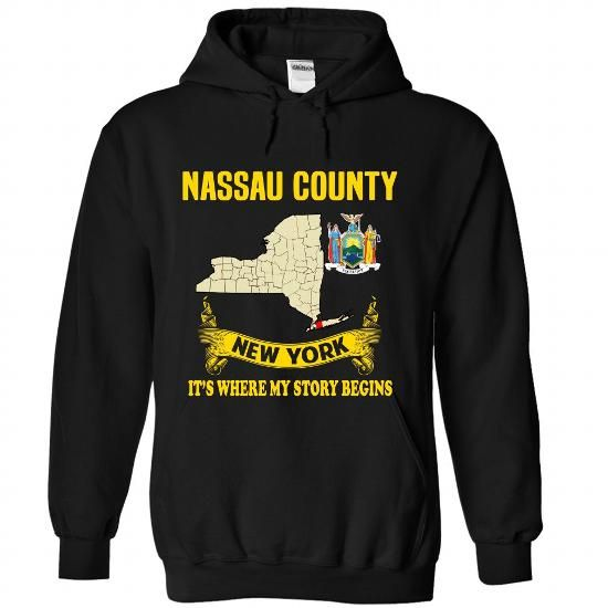Nassau County - Its where my story begins! - #gift wrapping #gift for mom. FASTER => https://www.sunfrog.com/No-Category/Nassau-County--Its-where-my-story-begins-3743-Black-Hoodie.html?68278
