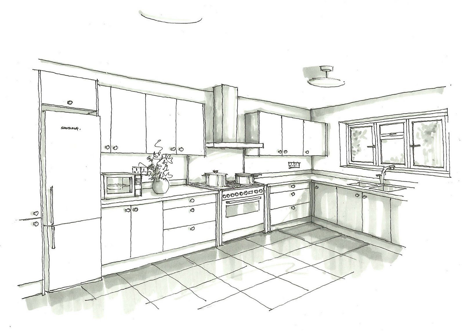 24 Interior Design Kitchen Drawings Drawing Furniture Kitchen Drawing Interior Design Kitchen