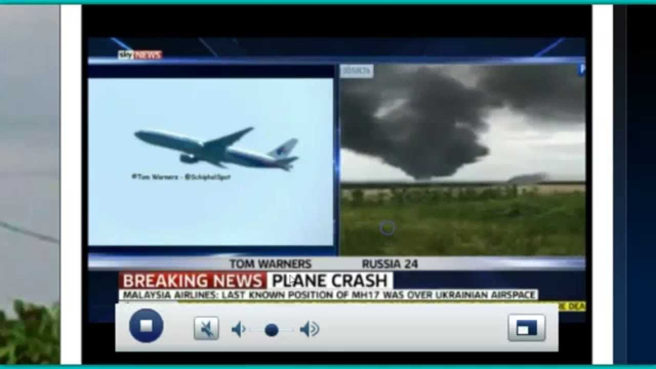 Malaysian Plane 'Shot Down' In Ukraine With 295 On Board!