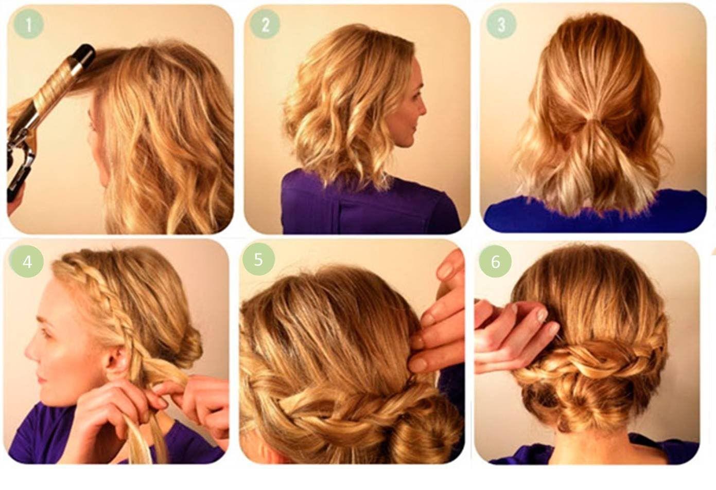 Peinados para cabello corto paso a paso, Peinados faciles para cabello c