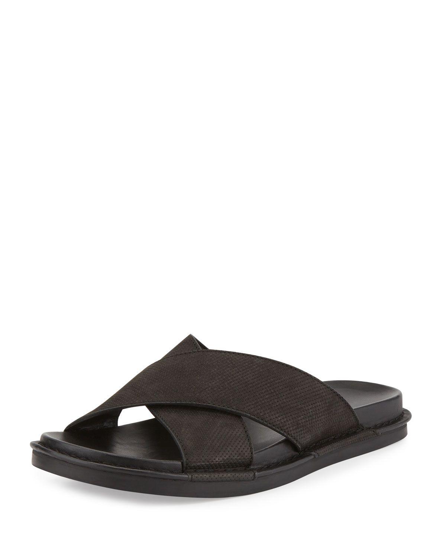 62080ceef Crisscross Leather Slide Sandal