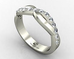 A Crossover design promise ring that is simple and elegant.