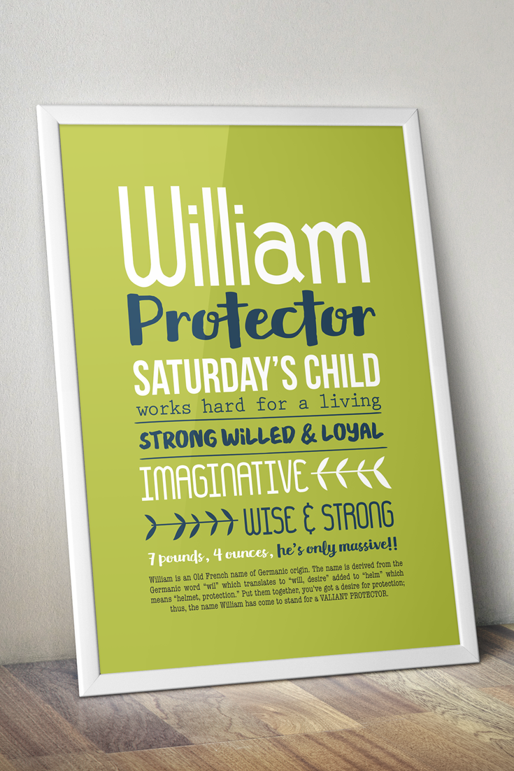 William, protector, Re-pin for later, Name meaning art, lime green ...