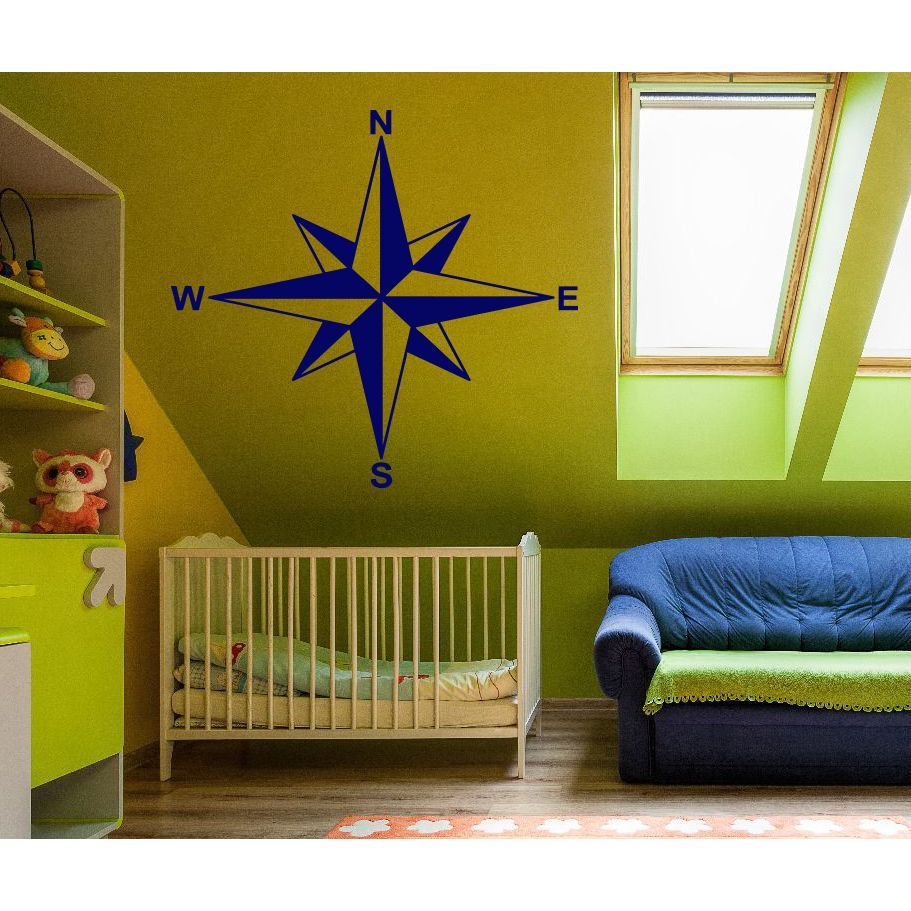 Compass North West South East Wall Art Sticker Decal | wall art ...