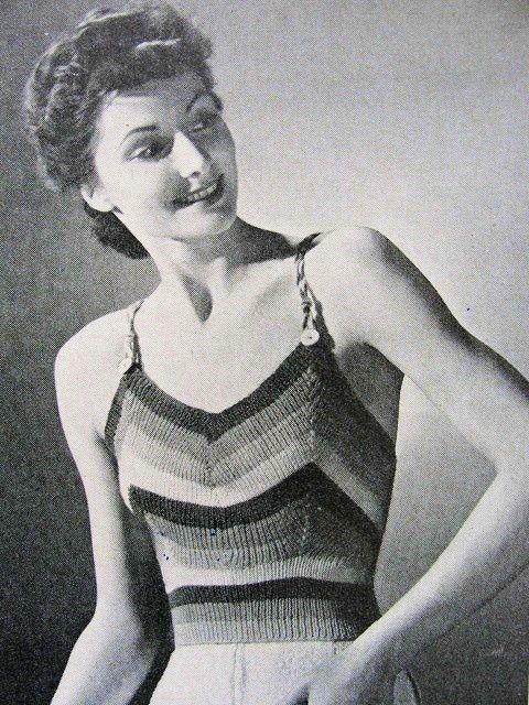 INSTANT PDF PATTERN 1930s Vintage Art Deco Knitted Halter Top ...
