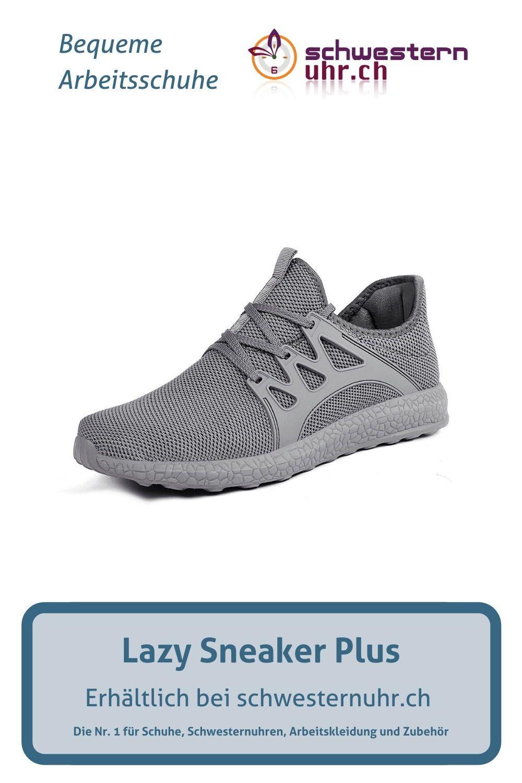 Lazy Sneaker Plus In Grau Fur Damen In 2020 Bequeme Arbeitsschuhe Arbeitsschuhe Sneaker
