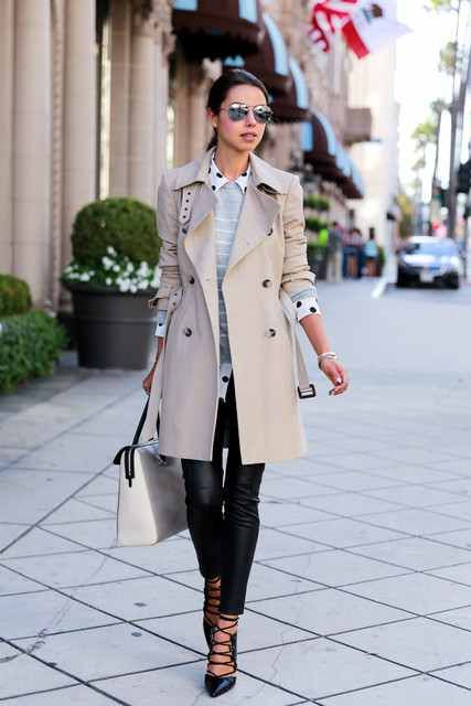 @roressclothes closet ideas women fashion outfit clothing style apparel  Fashionable Trench Coat Outfit for Winter
