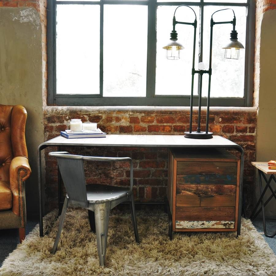 Are You Interested In Our Reclaimed Boat Wood Desk With Style