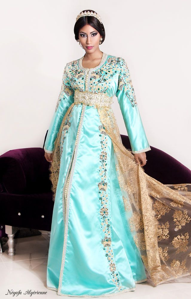 Algerian wedding Kaftan | Mode Made in Algeria موضة جزائرية ...