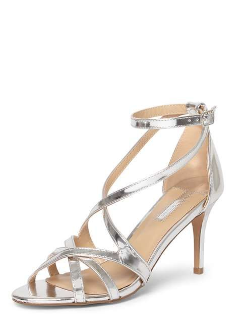 Silver 'Scala' Strappy Sandals - Dorothy Perkins