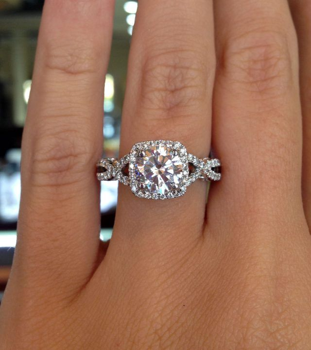 meet the most popular engagement ring on pinterest - Most Popular Wedding Rings