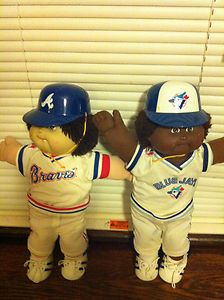 72438a7ab3df 80s Cabbage Patch Kids Baseball Theme  Blue Jays and Braves ...