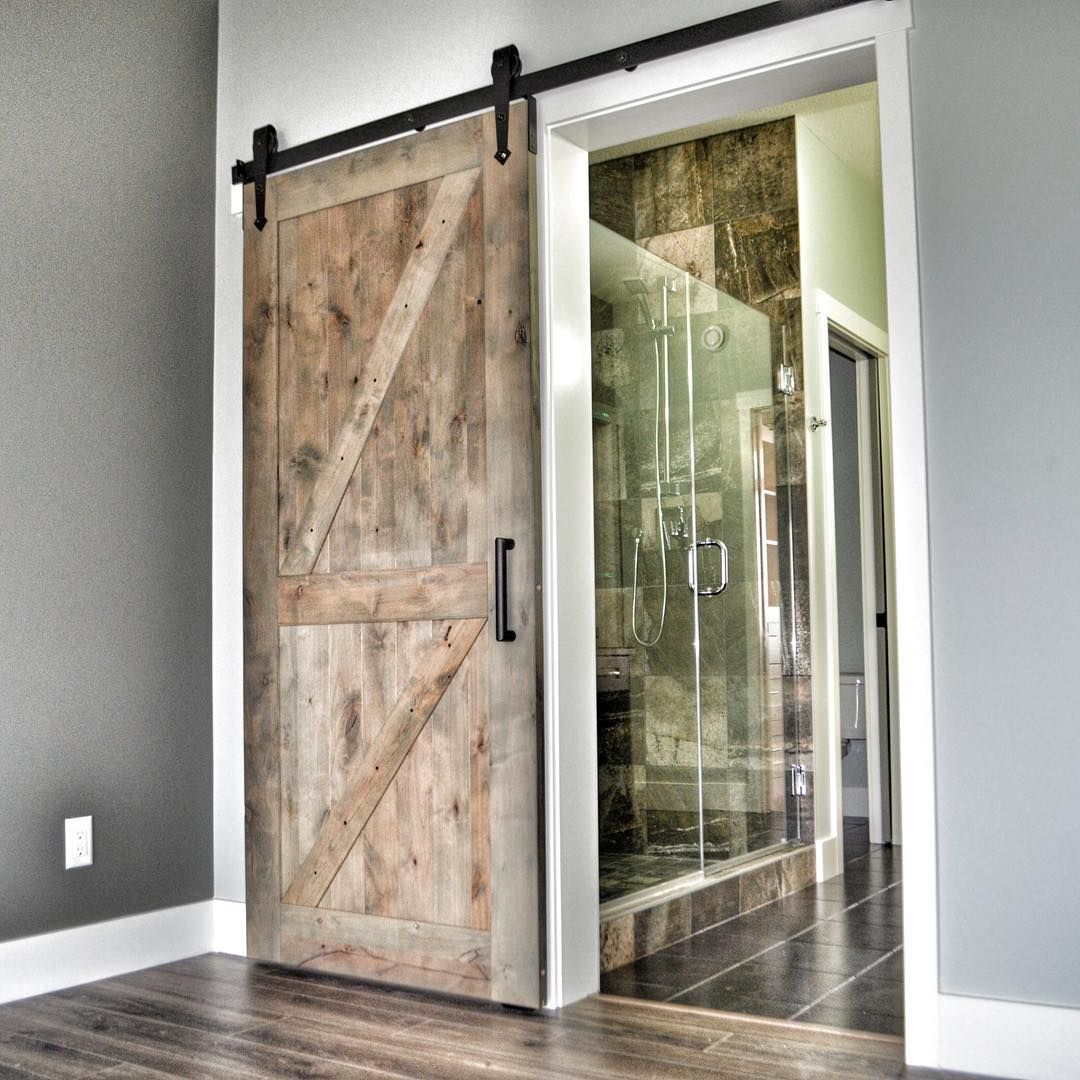 gray sliding barn door  arrow kingship hardware with double z barn door