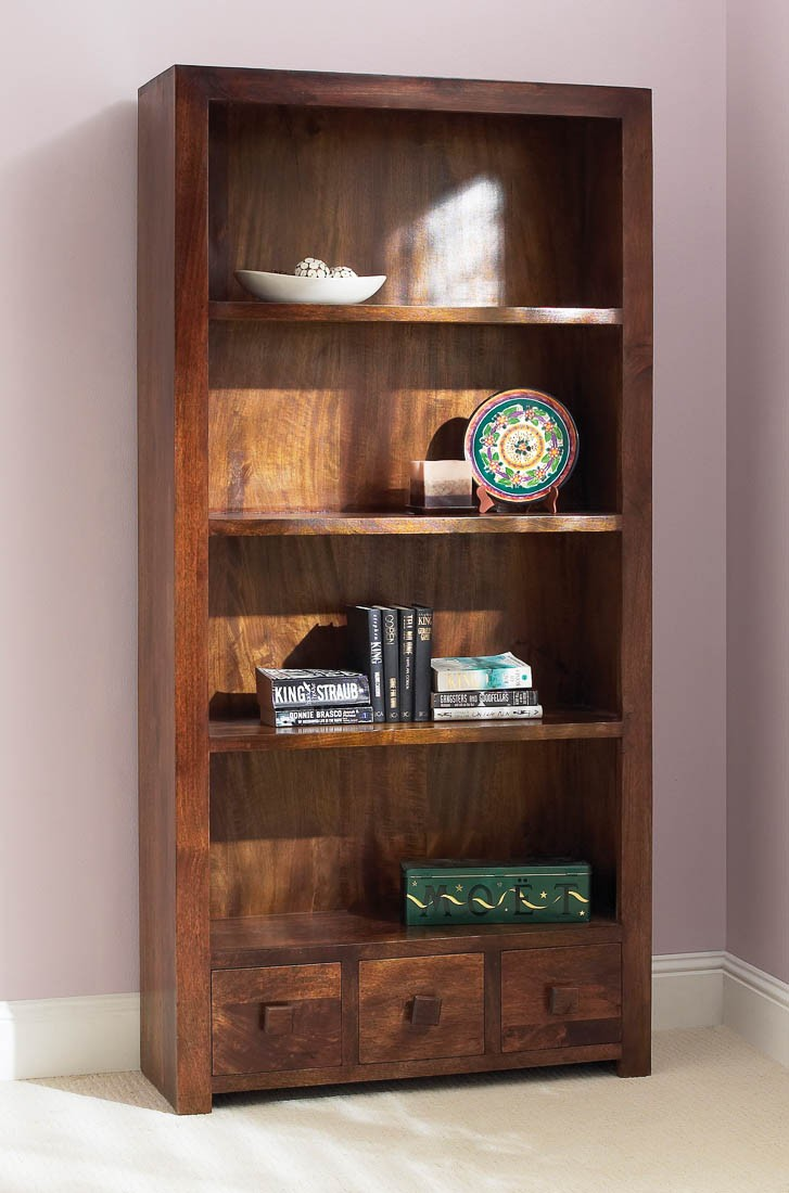Dakota Mango Tall Bookcase In 2020 Bookcase Wooden Bookcase Cube Bookcase