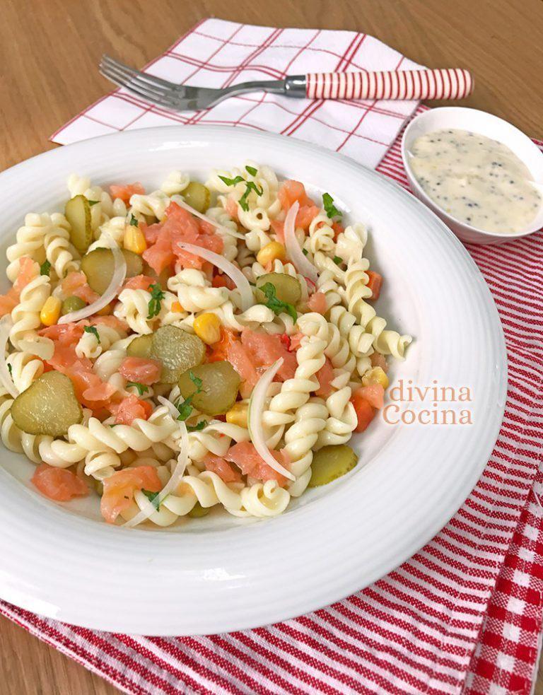 Ensalada De Pasta Con Salmón Receta De Divina Cocina Ensalada De Pasta Pasta Con Salmón Ensalada Con Salmon