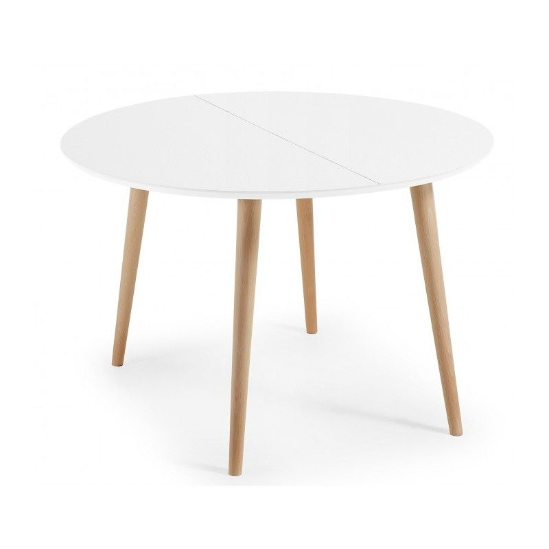 Table à manger ronde extensible - LAO BLANC Table à manger