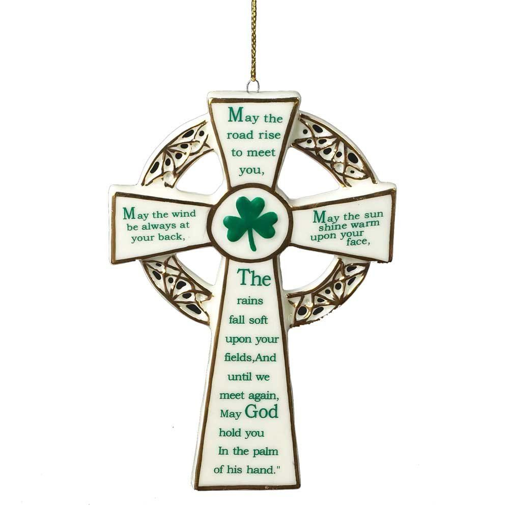 Kurt Adler 5.12-Inch Porcelain Irish Cross Ornament ...