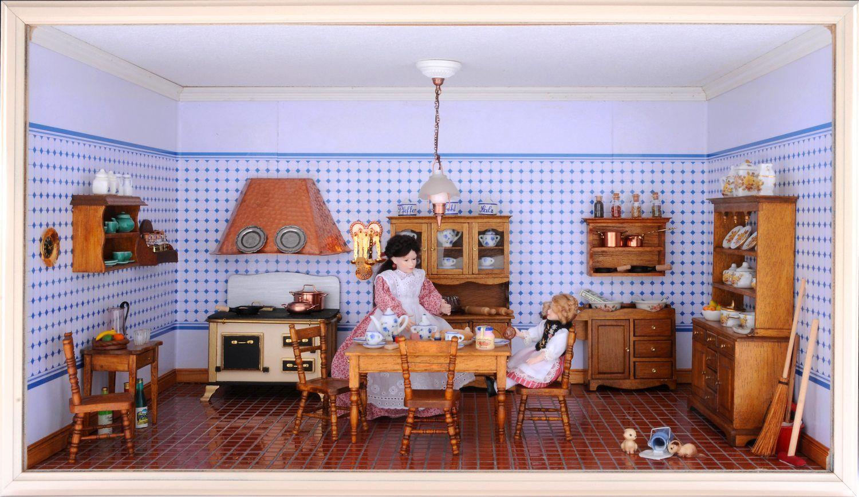 Die Küche Im Modul Box Zimmer, Eingerichtet Mit Stilmöbelbausätzen .