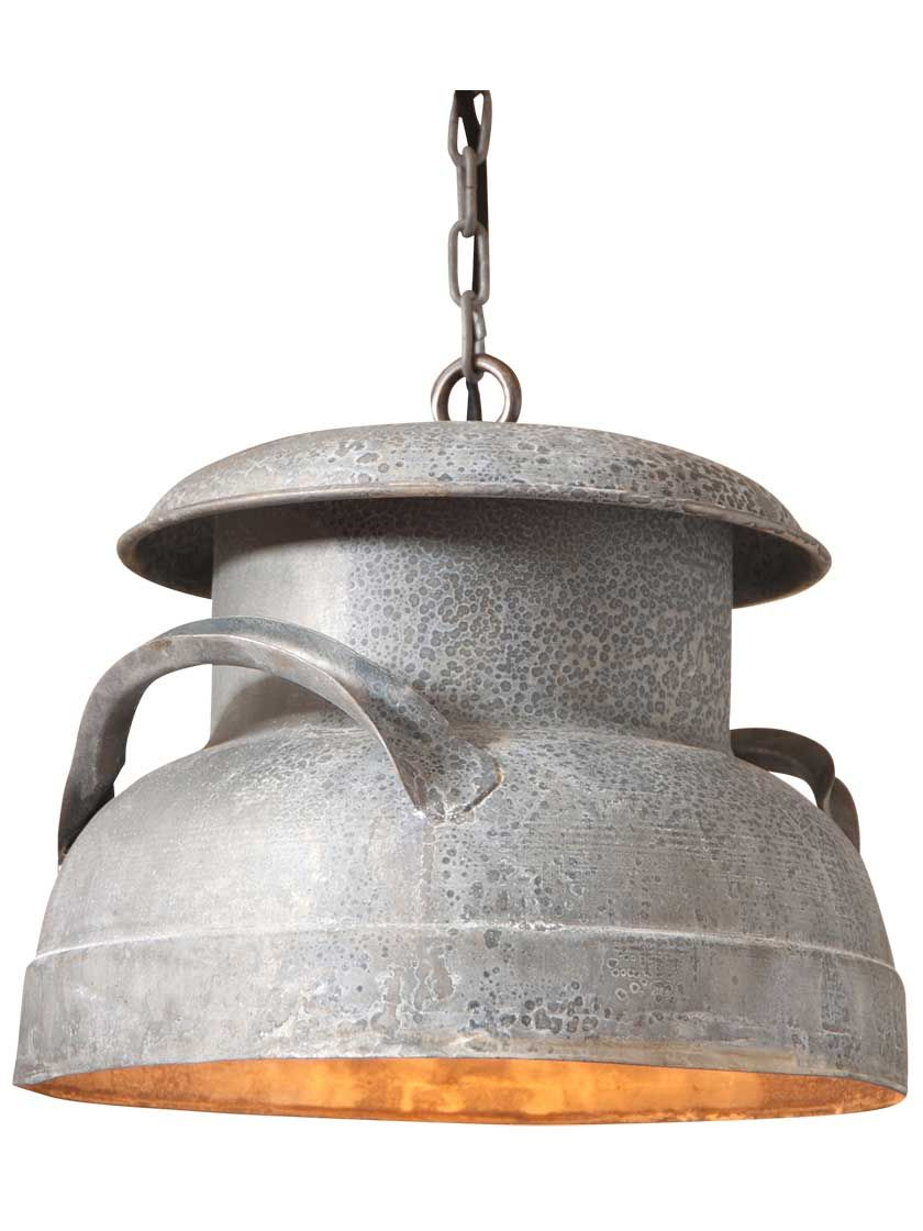 Milk can 13 pendant light in 2019 industrial milk cans antique