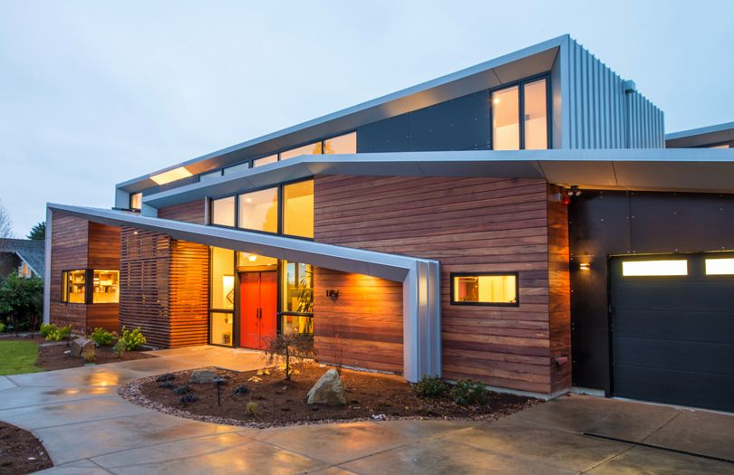 Roof Line Designs Ideas Modern Two Storey Home With Narrow Roof Lines By Elemental Modern Roof Design Minimalist