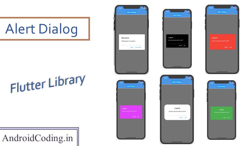 Flutter Customized Alert Dialog Library in 2020 Class