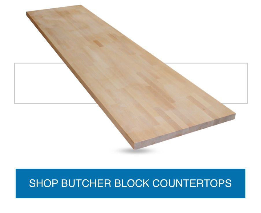 Diagonal Butcher Block Slab With A Light Untreated Wood Look Butcher Block Countertops Wood Countertops Butcher Block