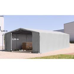 Photo of Zelthalle 8x12m Pvc 720 g/m² grau wasserdicht Industriezelt Toolport