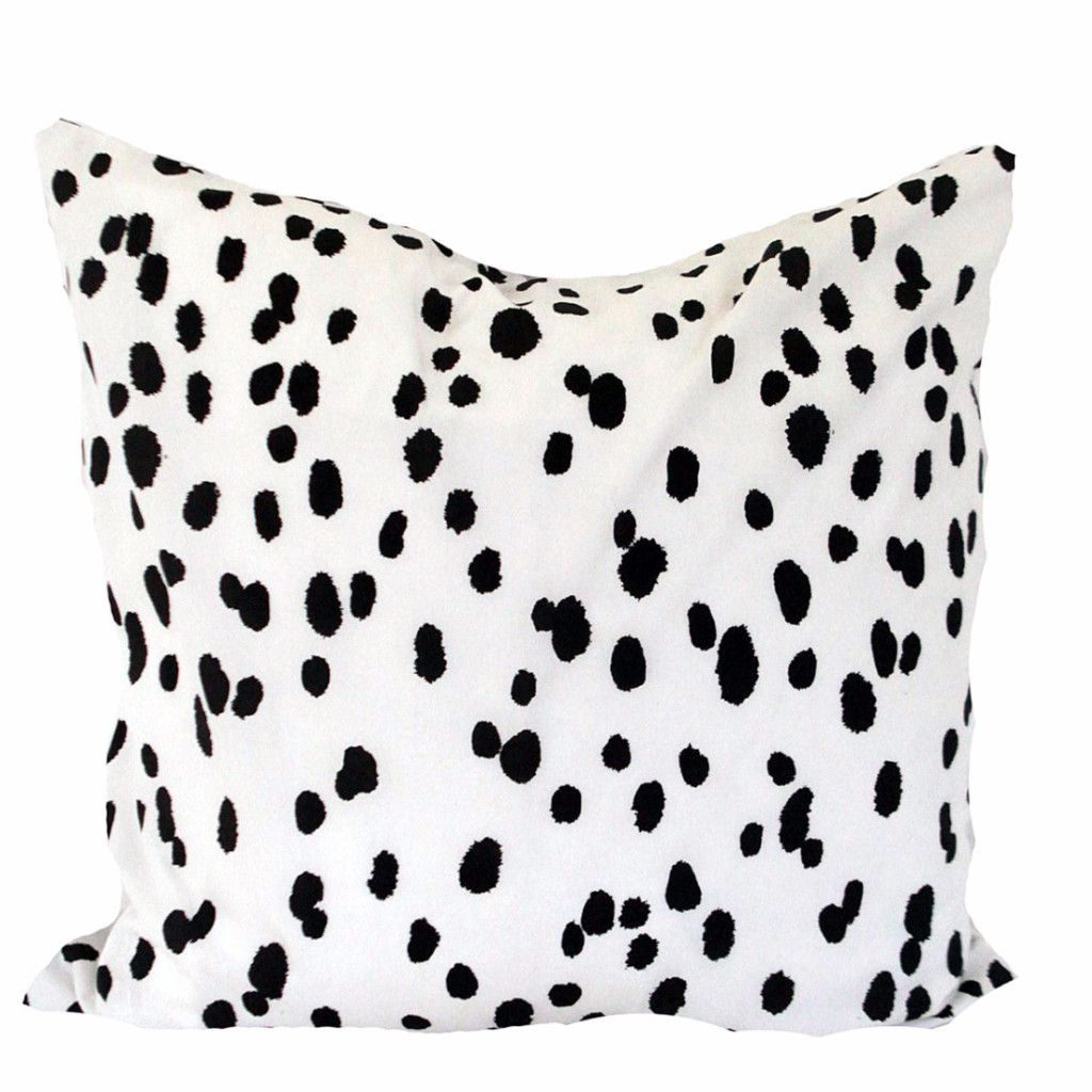Black And White Seeing Spots Pillow From Katie Kime With