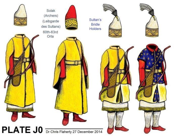 Ottoman Turkish Uniforms WW1 History First World War Militaria Turkey Wargaming Military Insignia Uniform Crimea Crimean - 1600 Imperial Guard; Bostandji Corps & Special Siege Troops
