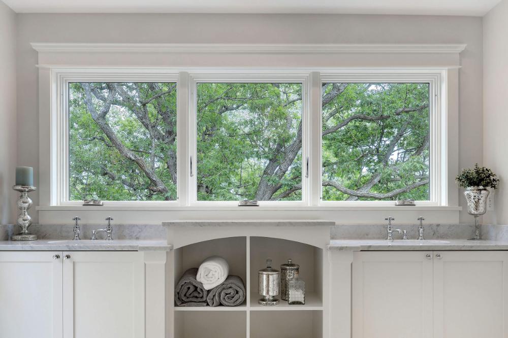 Contemporary Casement Windows Elevate Casement Narrow Frame Marvin In 2020 Casement Brick Molding Casement Windows