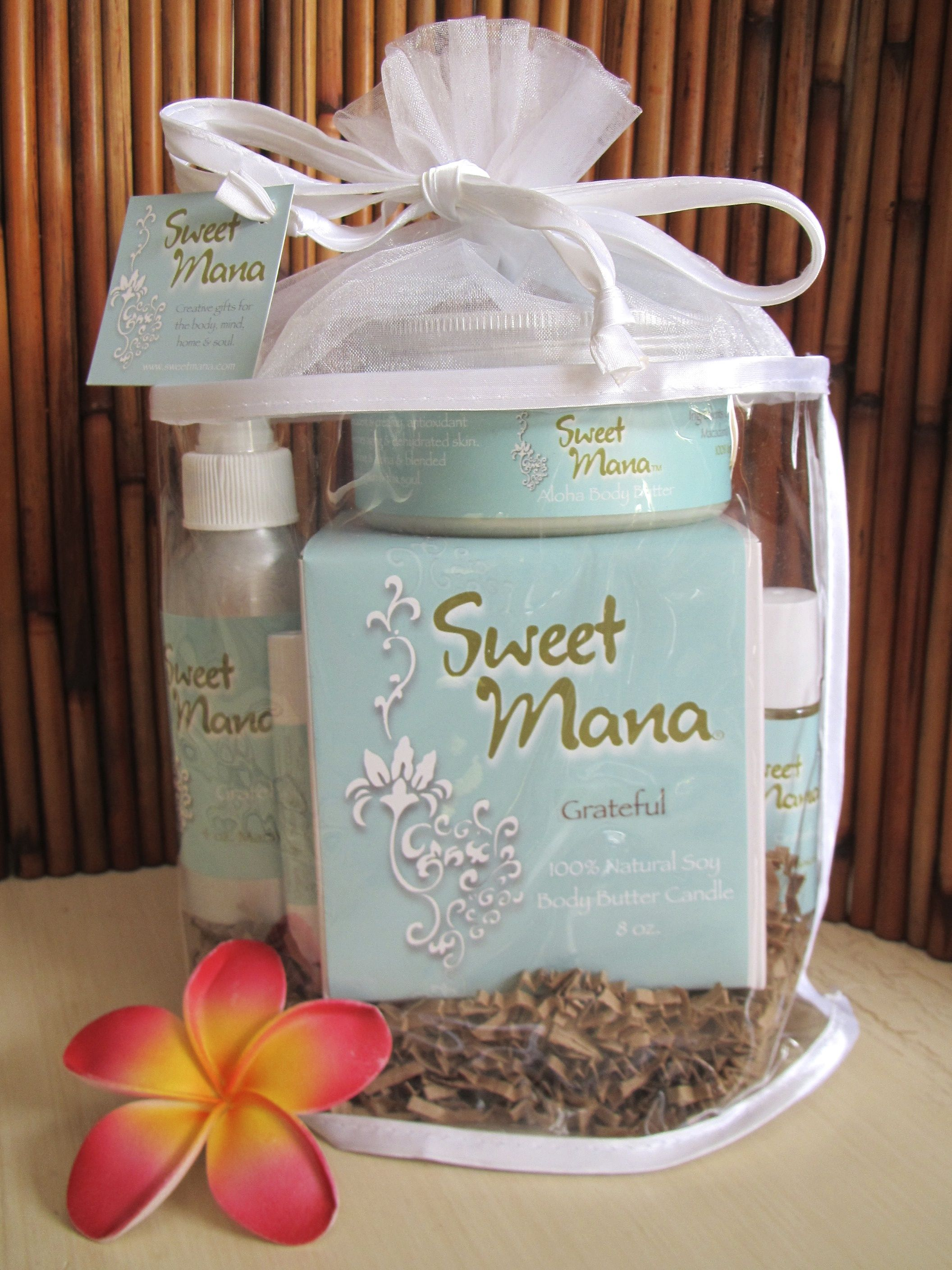 A lovely assortment of eco-friendly body products that nourish skin & smell OMazing! www.sweetmana.com