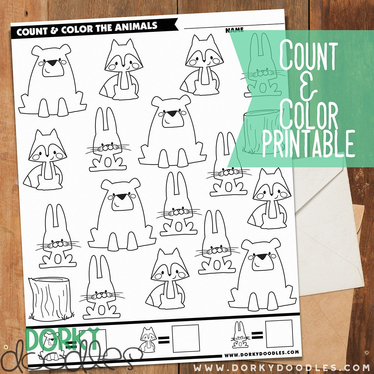 Count And Color Printable Worksheet