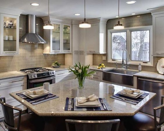 small l shaped kitchens with islands Google Search