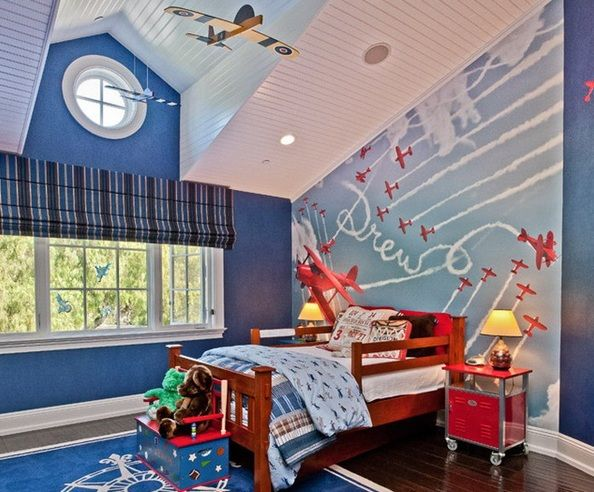 Toddler Room Ideas For Boys With Airplane Decor