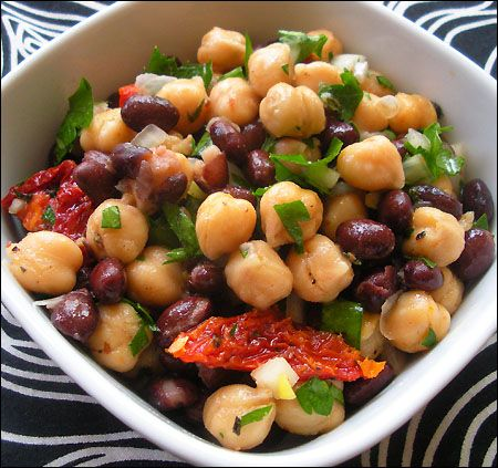 Balela -- Garbanzo and Black Beans, Sundried Tomatoes in a ...