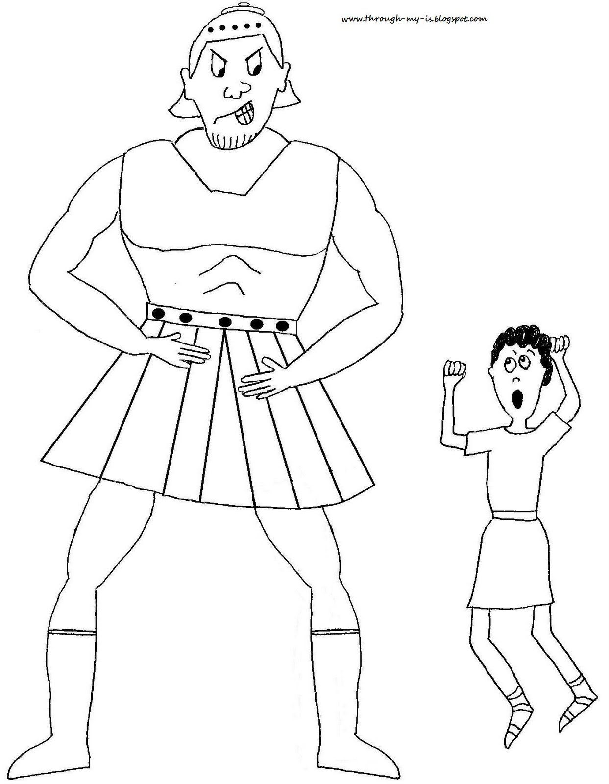 David and goliath jesus storybook bible advent crafts for David and goliath coloring pages for preschoolers