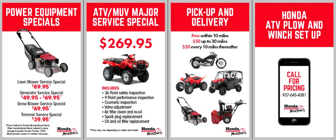 Honda Motorcycle Dealers In Ohio En0i Motorcycle Dealer Lawn Mower Service Atv Plow