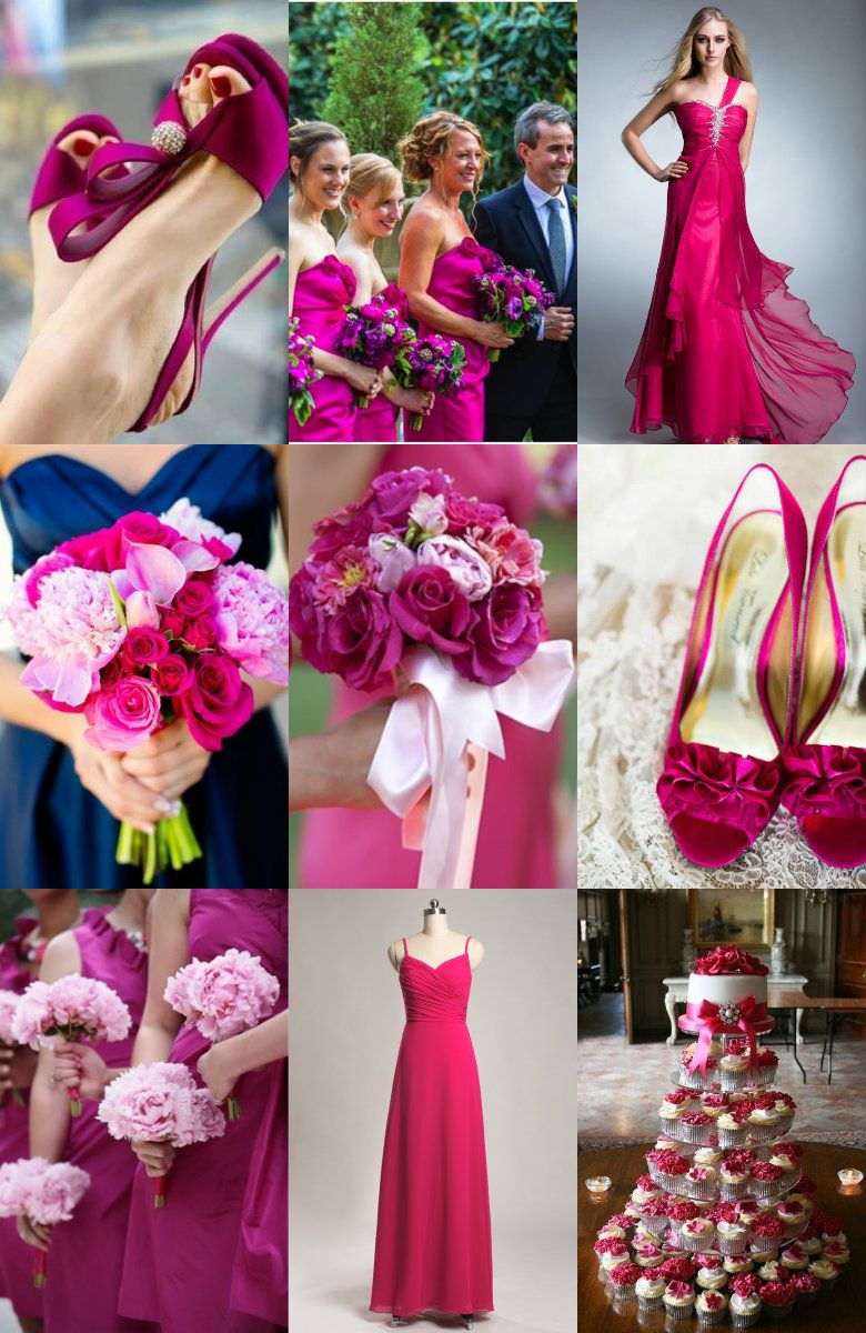 Fuchsia wedding idea. Re-pin if you like. Via Inweddingdress.com ...