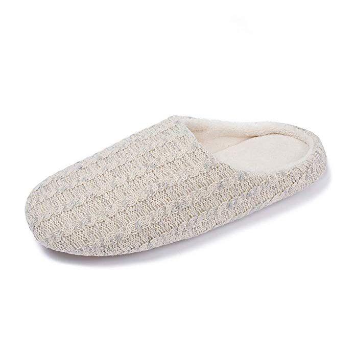 6df125b6b34c Zcoli House Slippers Men Women Home Cotton Knit Memory Foam Indoor Slippers  Shoes Non-Slip